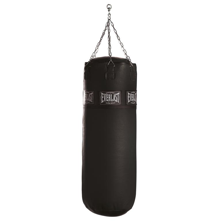 LEATHER HEAVY BAG-BLACK